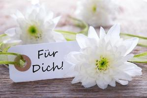 Label with Fuer Dich