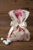 Fabric pouch wedding favor