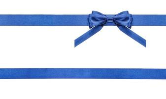 blue satin bows and ribbons isolated - set 18 photo