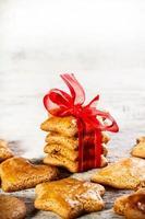 Christmas gingerbread cookies photo