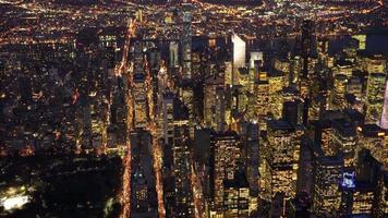 sfondo paesaggio urbano punto di riferimento urbano. edifici di skyline di New York City