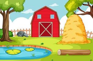 Empty background nature farm  vector