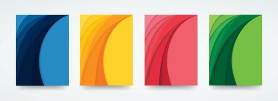 Colorful curve template