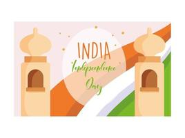 Happy independence day India poster  vector