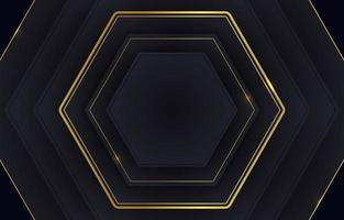 Black And Gold Background With Several Stacked Boxes vector