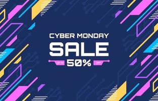Colorful Technology Cyber Monday Sale Background