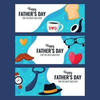 Set of Father's Day Banner vector