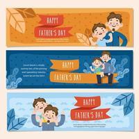 banner feliz dia dos pais vetor