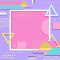 Simple Geometric Shape Aesthetic in Modern Pastel vector
