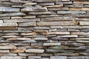 Decorative brick wall from irregular tiles