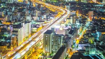 time-lapse hd: paysage urbain d'Osaka au Japon video