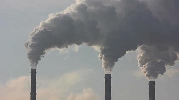 Stadt Schornstein Rauchverschmutzung Hintergrund