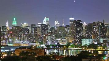 Manhattan la nuit, laps de temps video