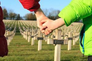 children walk hand in hands for peace world war 1