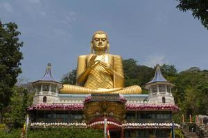 Golden temple in Dambulla, Sri Lanka