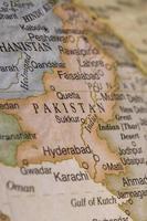 detalhe do mapa do globo macro do Paquistão