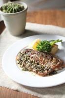 Sea bass steak