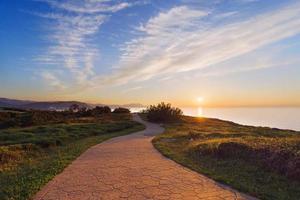 Path near the sea photo