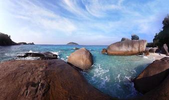 Sea stones summer panorama