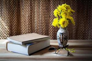 Still life flower and book photo