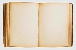 Open vintage book isolated