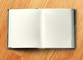 Blank opened book photo