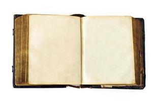libro abierto en blanco foto