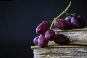 Grapes and old books