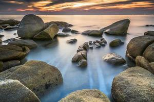 Long Exposure of Sunset at the sea