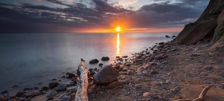 Rocky Baltic sea shore photo