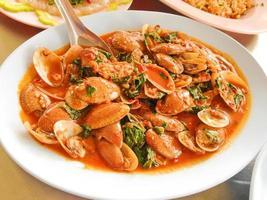 Spicy Stir Fried sea food