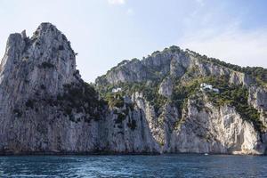 cliffs of Capri island, Capri, Italy