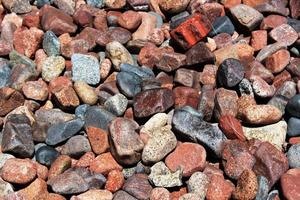 Colorful stones and pebbles photo