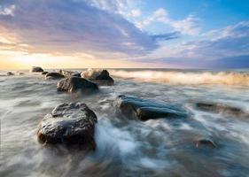 zimowe morze photo