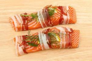 Sea trout fillets
