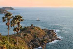 Cabo Promthep, punto de vista de Phuket, Tailandia