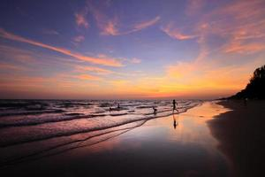 Life at Andaman sea after sunset with twilight