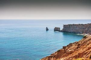 Beautiful view of the wild rocky sea coast.