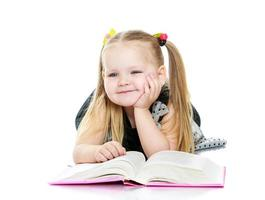girl reads a book photo