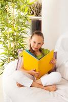 Smart girl with book