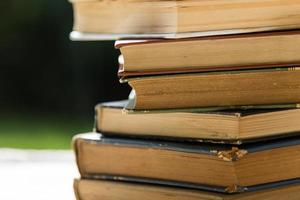 old books close up