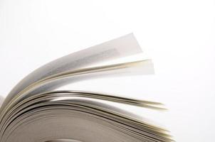 Open pages of book