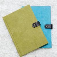 cuaderno verde y azul foto