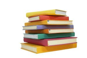 pile of notebooks- isolated on white with clipping path photo