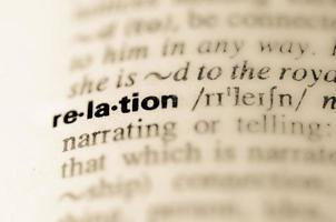 Dictionary definition of word relation