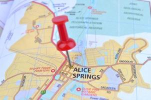 carte d'Alice Springs
