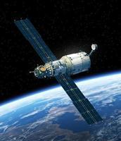 estação espacial orbitando a terra