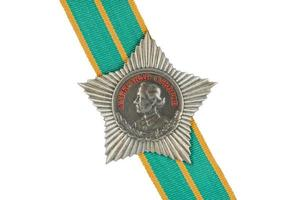 Order of Suvorov III degree on the tape.