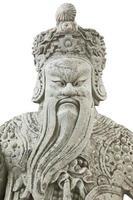 Guerrier chinois en pierre dans le temple