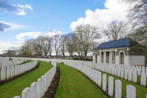 Cementerio de la Primera Guerra Mundial Flandes Bélgica